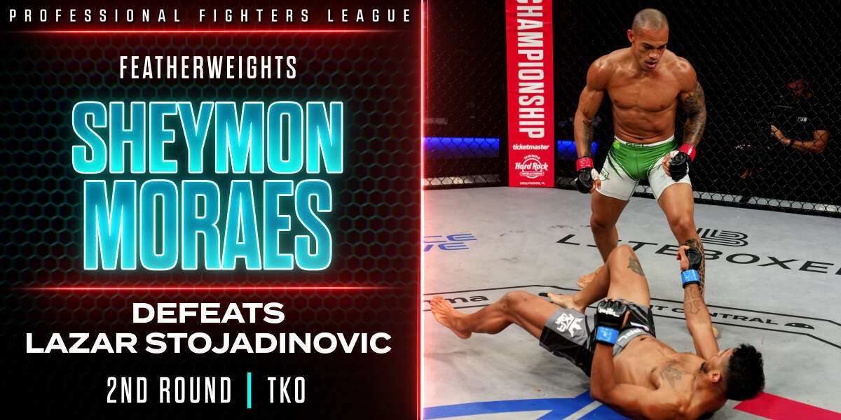 Sheymon Moraes scores TKO victory over Lazar Stojadinovic thanks to heavy overhand right
