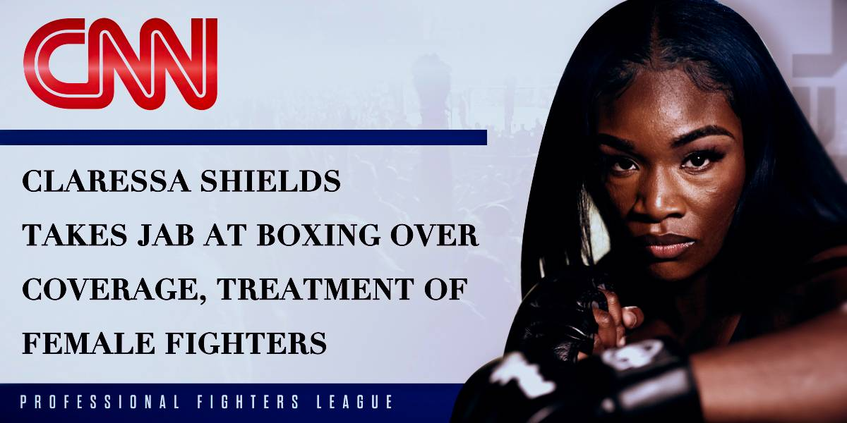 (CNN) Claressa Shields takes jab at boxing over coverage, treatment of female fighters