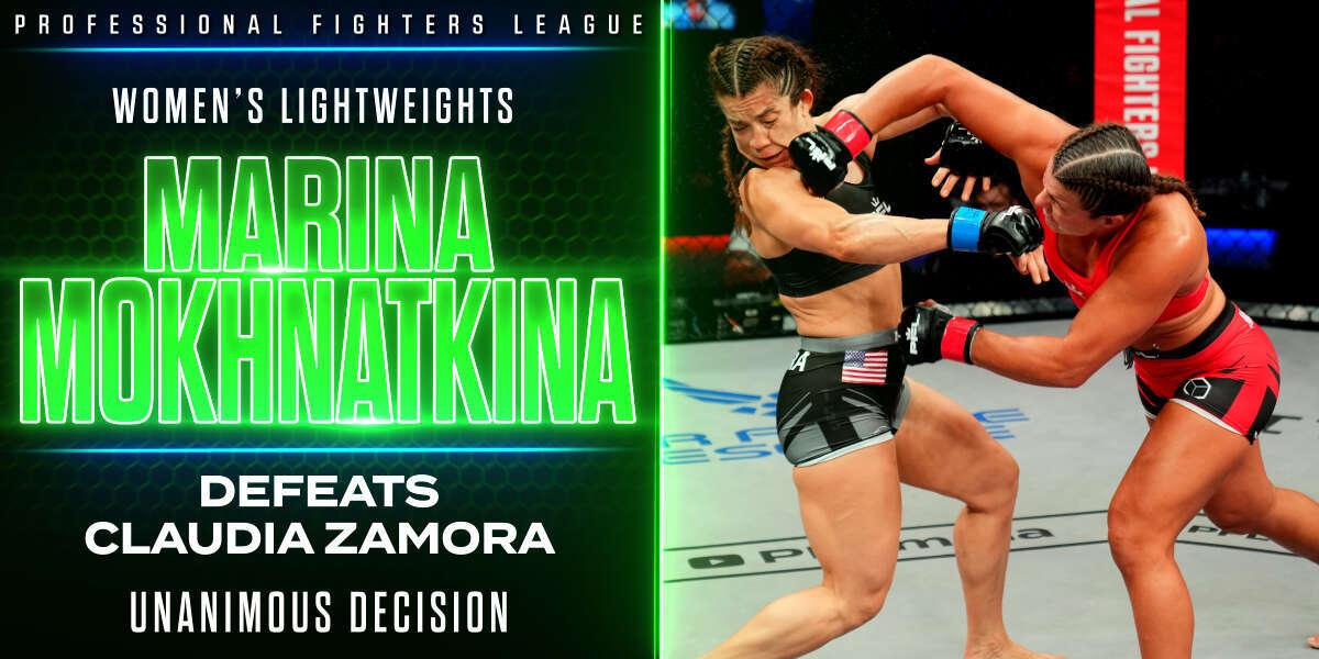 Mokhnatkina hobbles Zamora late, takes home unanimous decision victory