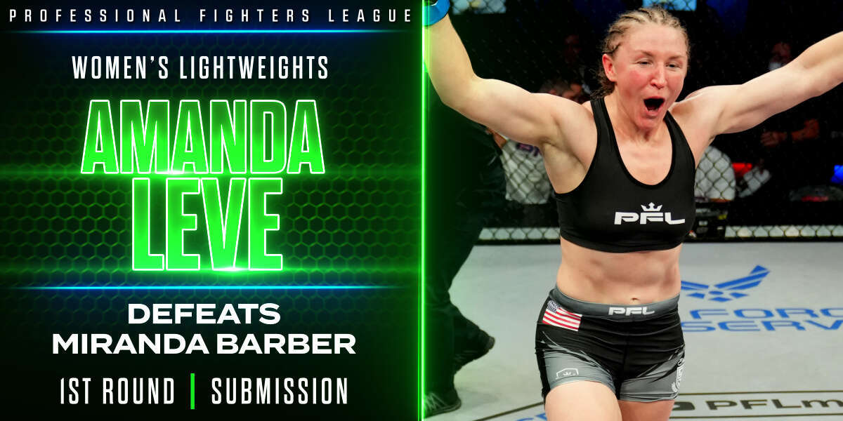 Leve survives early knockdowns, submits Barber in Pro MMA debut