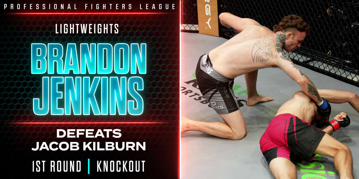 Brandon Jenkins makes strong first-impression in PFL debut with flying switch knee KO in Round 1