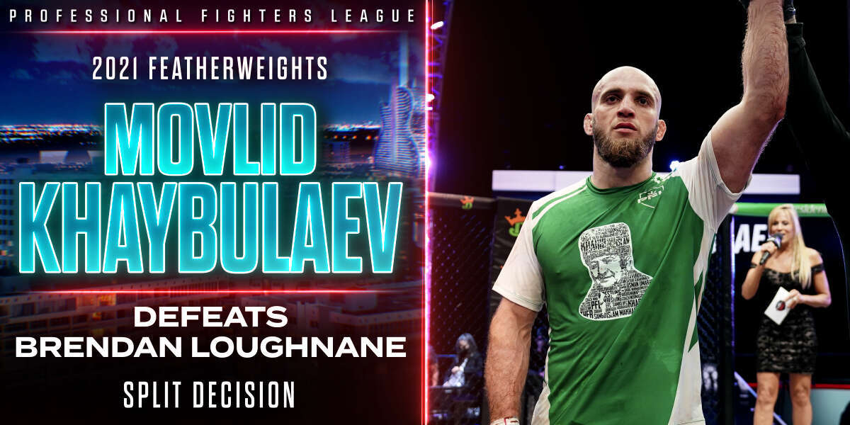 Movlid Khaybulaev claims final PFL Championship spot with split-decision win over No. 1 seed Brendan Loughnane
