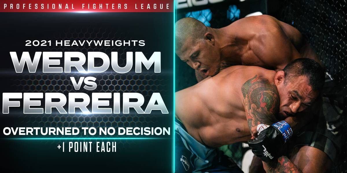 Werdum and Ferreira Deemed No Decision After Appeal