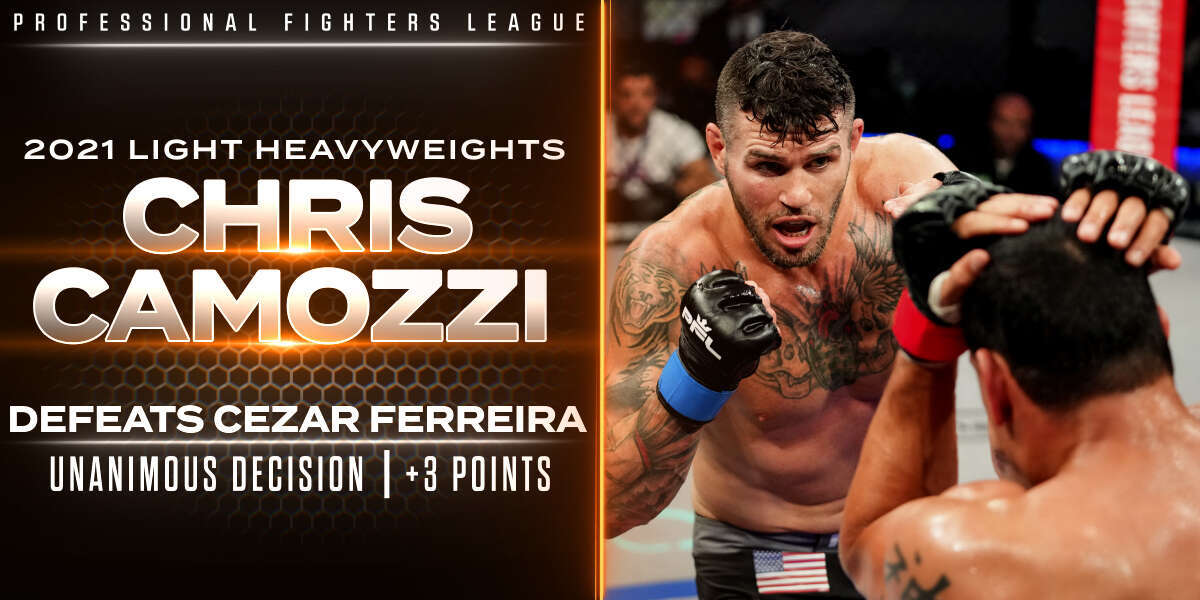 Camozzi endures rough first round, storms back for decision victory vs. Ferreira