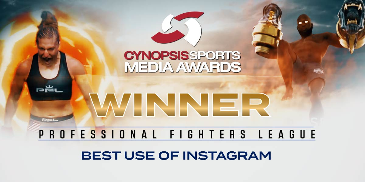 PFL Wins Best Use of Instagram Award at Cynopsis Sports Media Awards