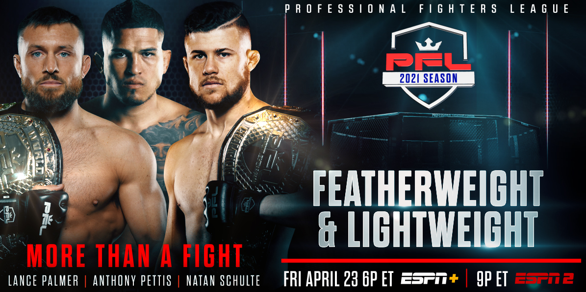 PROFESSIONAL FIGHTERS LEAGUE UNVEILS FEATHERWEIGHT AND LIGHTWEIGHT ROSTERS FOR 2021 SEASON DEBUT ON APRIL 23