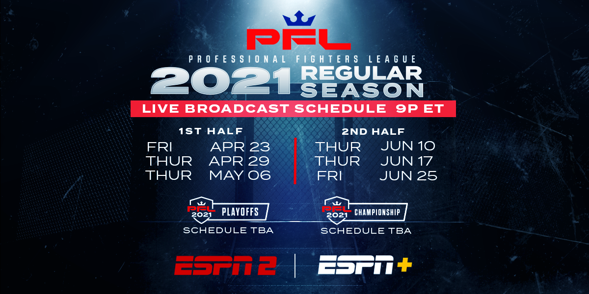 PROFESSIONAL FIGHTERS LEAGUE AND ESPN UNVEIL 2021 REGULAR SEASON SCHEDULE WITH OPENER ON APRIL 23