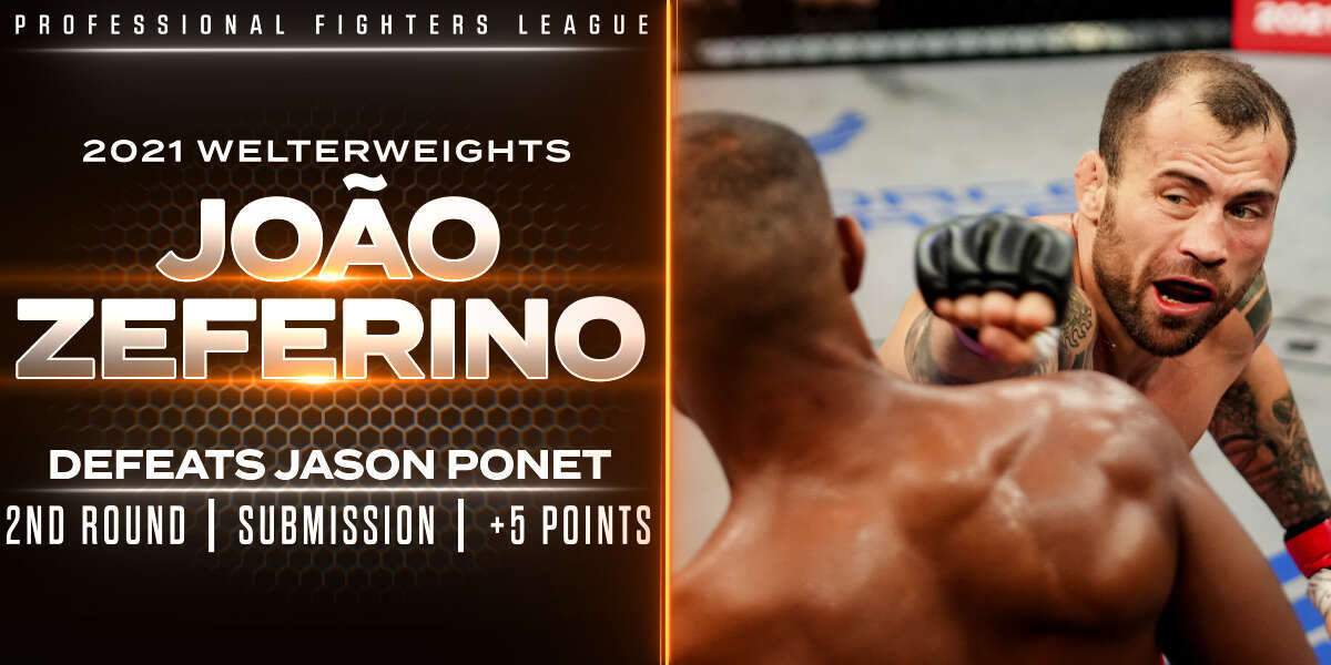 Zeferino storms back, punches ticket to Playoffs with submission over Ponet