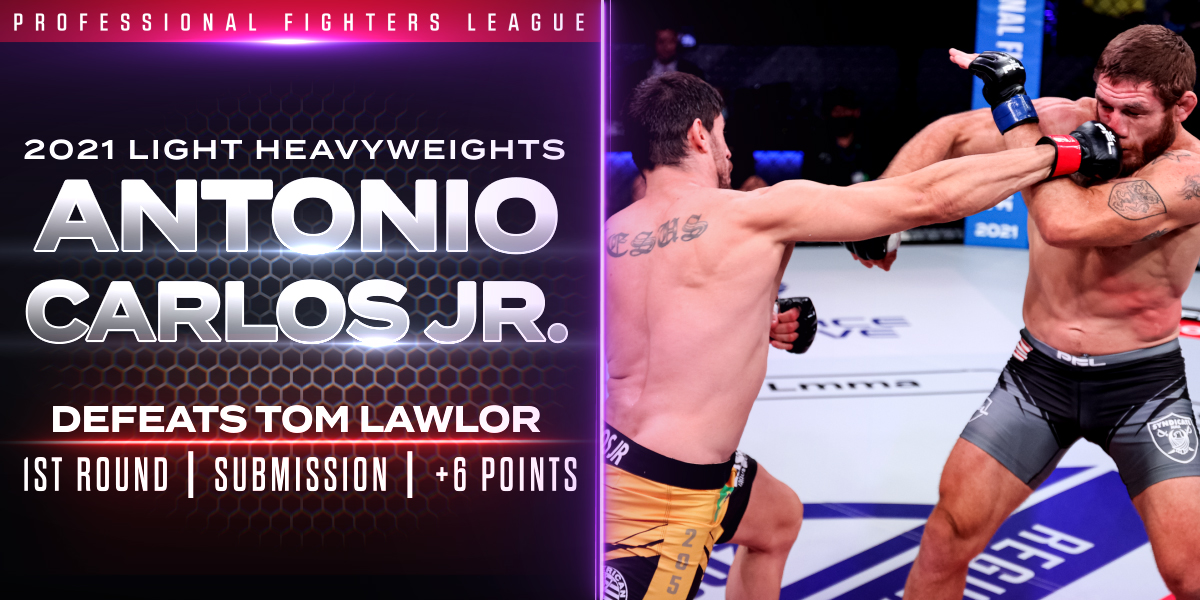 Carlos Jr. Submits Lawlor in First Round with Mounted Guillotine Choke