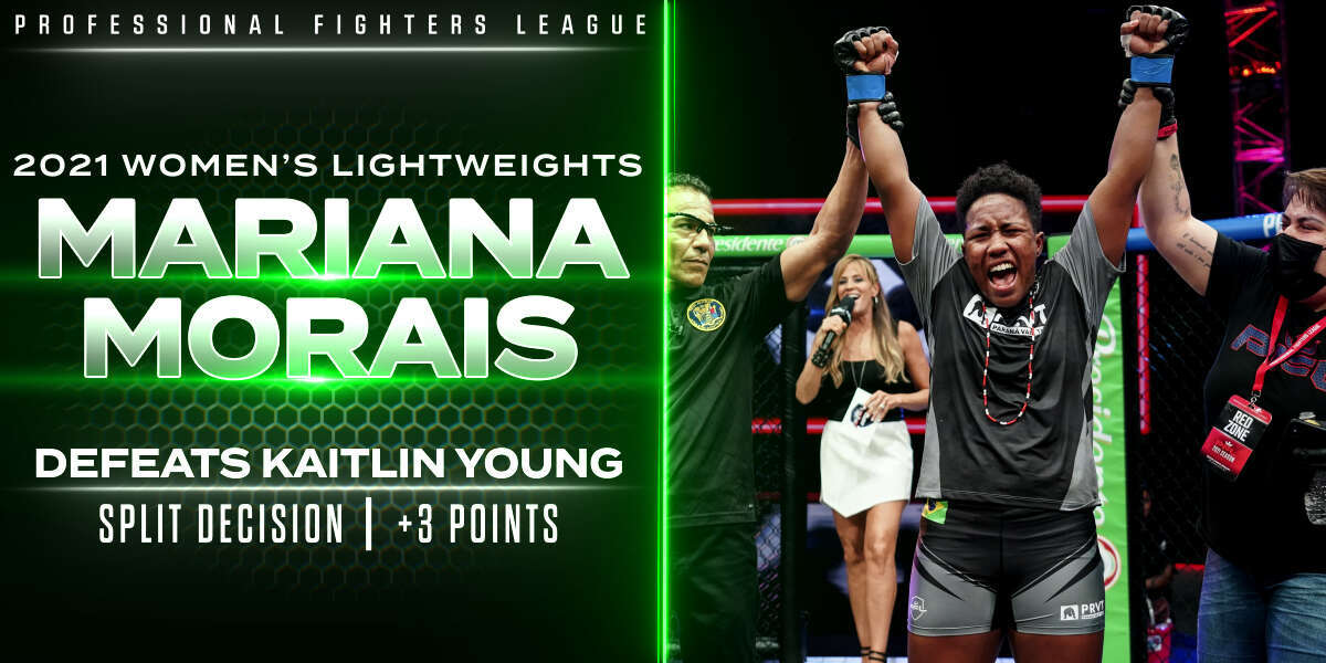 Morais survives early trouble, cranks volume for victory over Young