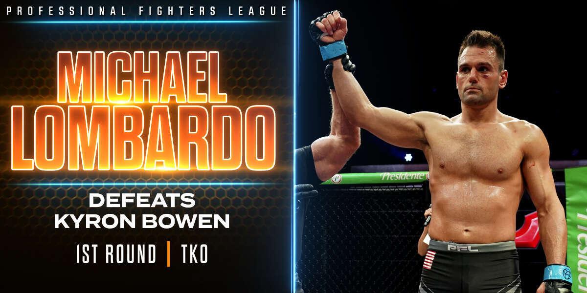 Lombardo finds his target, secures rare leg-kick finish vs. Bowen