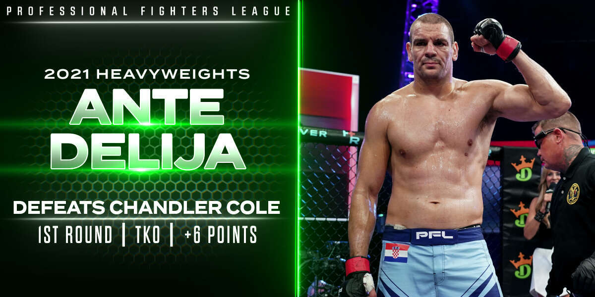 Delija weathers early storm, stops Cole late in Round 1 for six points