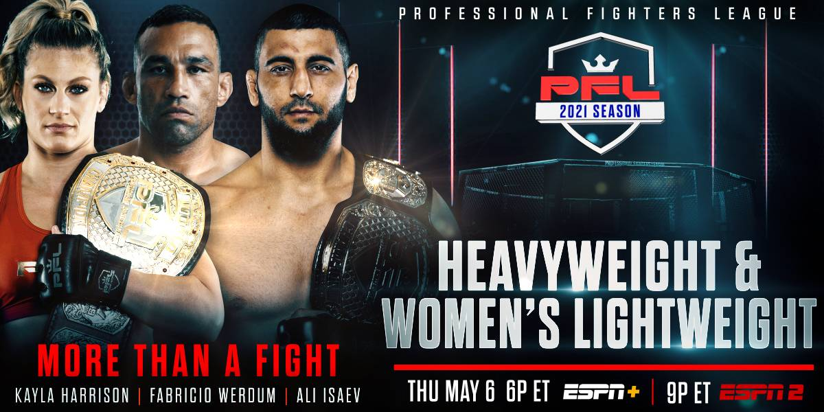 PROFESSIONAL FIGHTERS LEAGUE ANNOUNCES HEAVYWEIGHT AND WOMENS LIGHTWEIGHT ROSTERS FOR MAY 6 BROADCAST