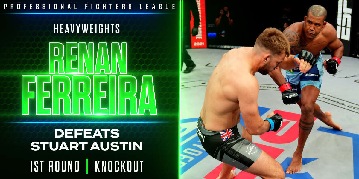 Ferreira puts Austin away quickly with savage right hand