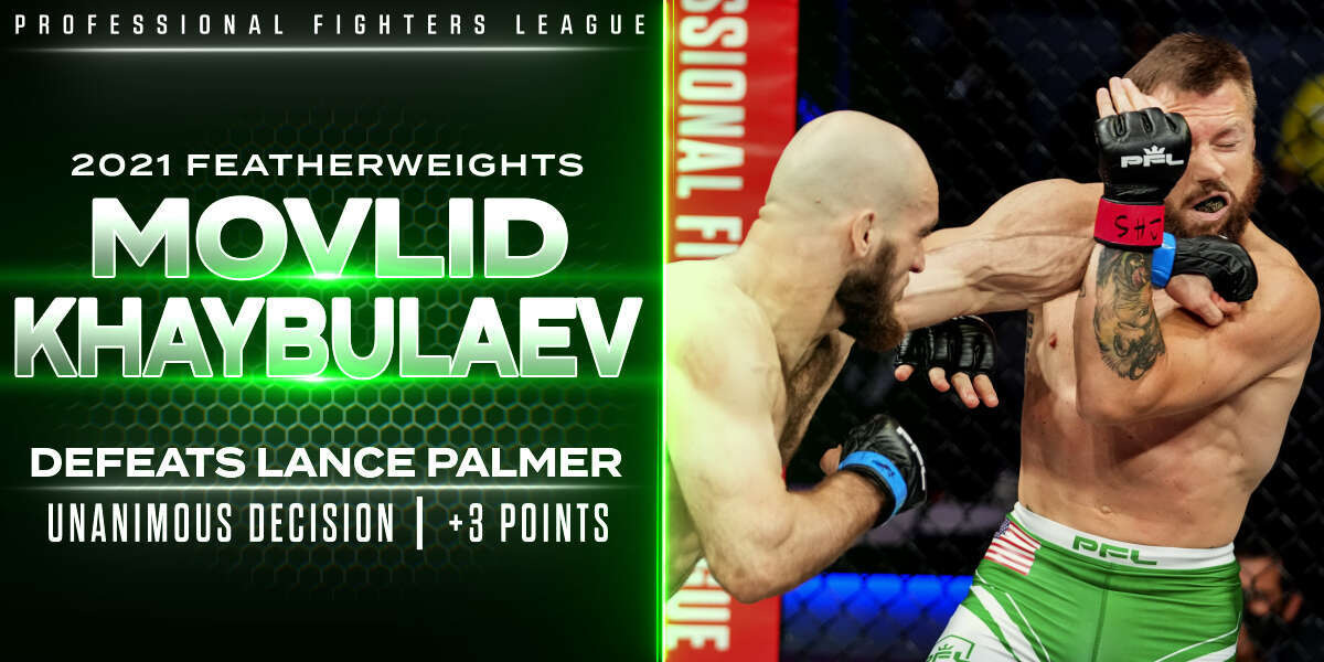 Khaybulaev punches ticket to Playoffs, knocks off two-time champ Palmer