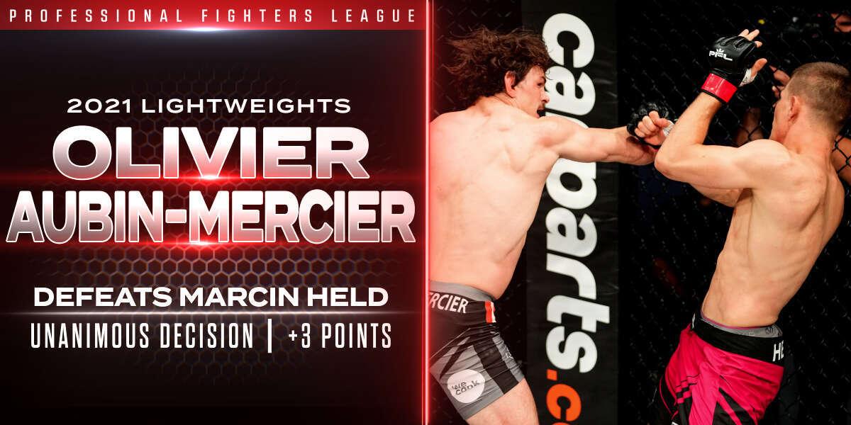 Aubin-Mercier showcases power and precision in victory over Held