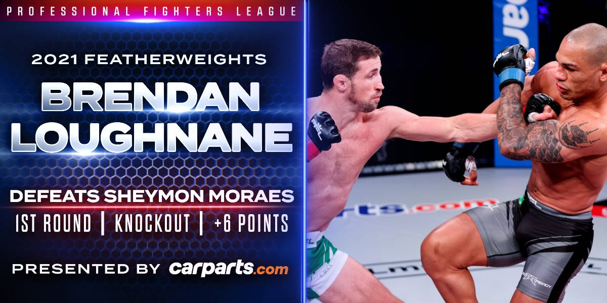 Loughnane Demolishes Moraes to Earn Six Points