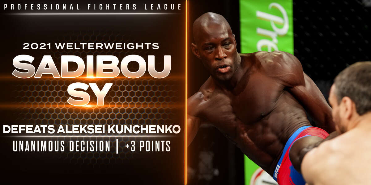 Sadibou Sy flashes much-improved takedown defense to earn three points