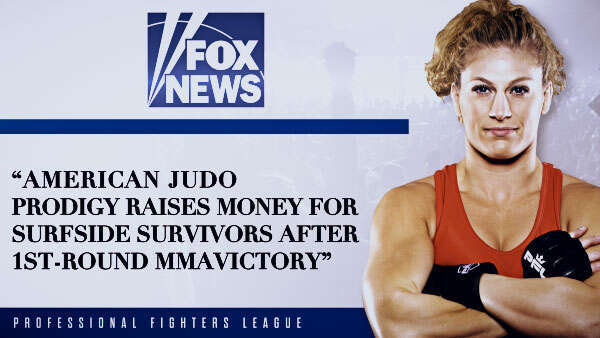 American judo prodigy raises money for Surfside survivors after 1st-round MMA victory