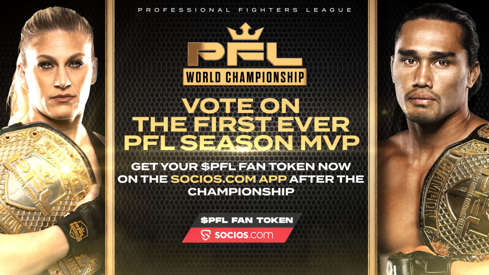 PROFESSIONAL FIGHTERS LEAGUE UNVEILS 2021 SEASON MVP AWARD TO BE CHOSEN WITH $PFL FAN TOKEN ON SOCIOS.COM