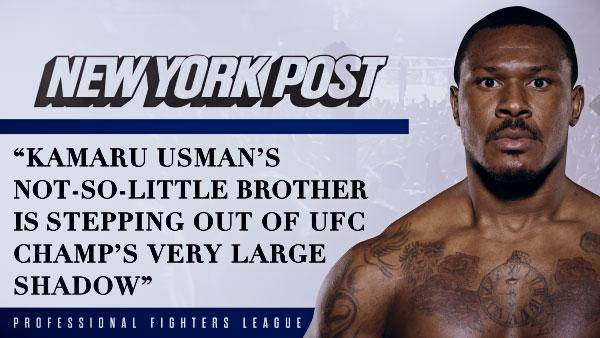 Kamaru Usman's not-so-little brother is stepping out of UFC champ's very large shadow